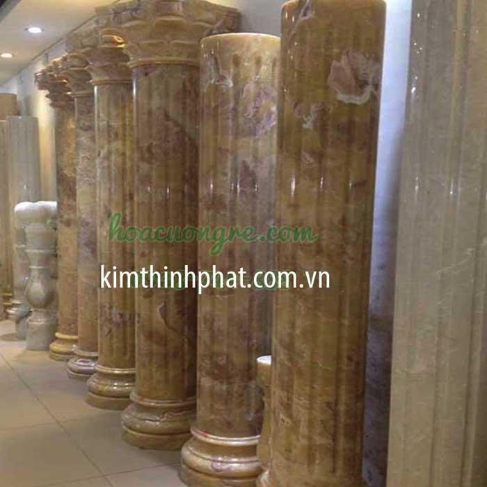 mẫu cột tròn đá hoa cương